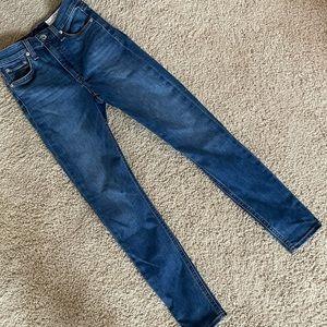 Rag & Bone Denim Skinny High Waisted Jeans